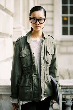 Casual in glasses captured by the lovely @VanessaJackman (via Vanessa Jackman: London Fashion Week SS 2012…Lily)