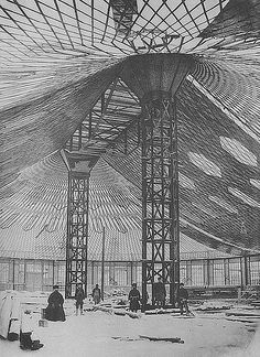 the first tensile structure Tensile Steel Lattice Shell of Oval Pavilion   by Vladimir Shukhov 1895