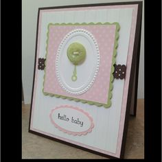Baby girl card I made...