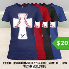 http://teespring.com/wear-baseball-cross The ultimate must-have for all the Baseball Moms out there! Only available for a LIMITED TIME, so get yours TODAY! Keep in mind this design is NOT SOLD IN STORES, and only in our webshop.