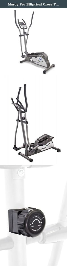 Marcy Pro Elliptical Cross Trainer - Cardio Machine. Take a stride toward fitness with the Marcy Pro Elliptical Cross Trainer ! To create an effective exercise regime, you need a variety of workout intensities. The Marcy Pro provides a full cardio workout and features magnetic resistance with eight preset levels . It gives you complete control over the intensity of your workout. The tension control knob lets you customize your elliptical training session to suit your fitness needs. You…