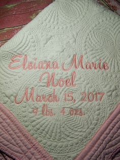 Personalized baby quilt personalized quilt baptismal quilt quilt baby quilt personalized quilt monogrammed quilt baby blanket crib blanket negle Image collections
