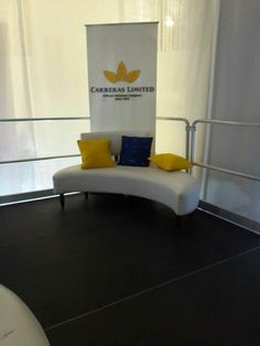 Built a lounge for carreras at cfw