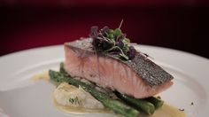 Sam and Chris' Salmon with Celeriac Puree and Dill Beurre Blanc Sauce from S4 of MKR: http://gustotv.com/recipes/lunch/salmon-celeriac-puree-dill-beurre-blanc-sauce/
