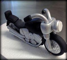 Fondant Motor Bike Topper/ Bike/ Motor Cycle available at www.etsy.com/shop/LittleOrchidStudio
