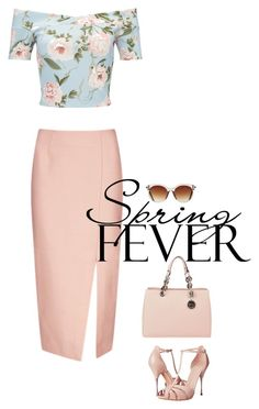 """""""spring fever"""" by mimas-style ❤ liked on Polyvore featuring Miss Selfridge, C/MEO COLLECTIVE, Alexander McQueen, Icon Eyewear and MICHAEL Michael Kors"""