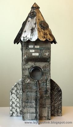 Layers of ink - Space Rocket Tutorial http://layersofink.blogspot.com/2014/05/space-rocket-tutorial.html