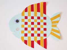 Een vrolijke vis knutselen met vlechtstroken