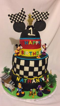 Mickey And The Roadster Racers first birthday