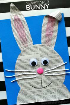 Paper bunny using newspaper