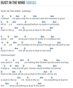dust in the wind vocal sheet music » Free piano sheet music | Piano ...