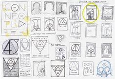 Thumbnail Sketches with words and images Graphic Design Layouts, Graphic Design Projects, Graphic Design Inspiration, Layout Design, Logo Design, Flyer Design, Design Ideas, Film Poster Design, Poster Layout