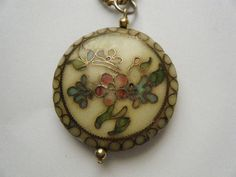 Vintage Necklace Cloisonne by broochonmyback59 on Etsy, $20.00