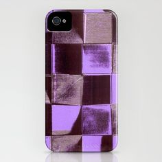 Shadows_Violet - iPhone Case by Garima Dhawan