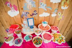 My Little Pony Birthday Party via Kara's Party Ideas KarasPartyIdeas.com Cake, decor, tutorials, recipes, favors and MORE! #mylittlepony #mylittleponyparty #ponyparty #rainbowparty #girlpartyideas (49)