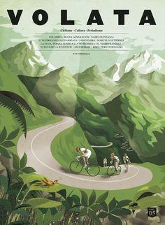 #coverillustration von Illustrator Pep Boatella für Radfahr-Magazin »Volata« #illustration #coverdesign #editorialdesign