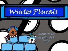 "Free! winter unit to teach plurals. It is includes 24 cards with pictures of regular and irregular plurals. These cards can be used to play ""go fish"" or memory match card.   If you download, I would love to hear feedback from you!"