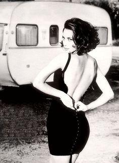 Christy Turlington - photographed by Ellen von Unwerth in 1990 for Vogue Italia.