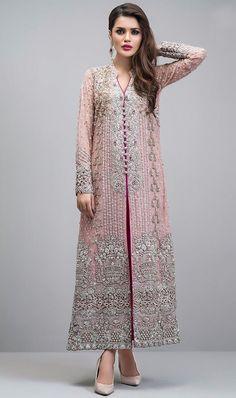 Georgette Pakistani Suit In Baby Pink Colour - Pakistani dresses Pakistani Party Wear, Indian Party Wear, Pakistani Bridal Dresses, Pakistani Suits, Indian Dresses, Indian Outfits, Emo Outfits, Rose Gold Jacket, Lehenga
