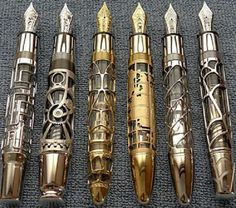 Montblanc Steampunk Fountain Pens Are Filled with Style | Walyou - I've seen these on Pinterest as Doctor Who sonic screwdriver fountain pens. They do look like sonic screwdrivers but the style is actually steampunk. And, at 20k each, it's not likely most of us will be able to purchase one!