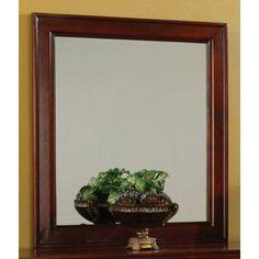 """Louis Philippe Cherry Dresser Mirror - 34.25"""" x 39"""" - $202"""