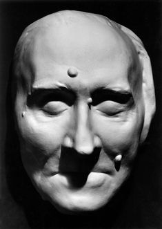 Death mask of Franz Liszt (1811-1886).  Haunting death masks record the faces of the departed