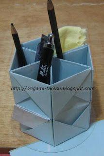 No rastro da memória (Santa Rita do Sapucaí): A arte do Origami - Porta-treco