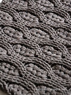 pamelatutu:    Puff stitch and crochet cables