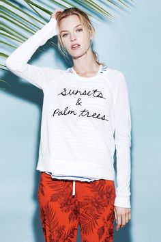 Sunsets Cropped Pullover