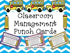 Do you use a behavior clip chart? Use these incentive punch cards to motivate your students to reach the top every day!