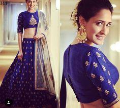 9 Breathtaking Blue Lehenga Designs That Have Us Floored Blouse Lehenga, Red Lehenga, Lehenga Choli, Anarkali Dress, Sabyasachi, Indian Wedding Lehenga, Bridal Lehenga, Indian Bridal, Indian Weddings