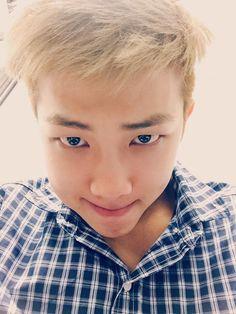 "BTS Tweet - Rap Mon (Selca) 150623 --- 쩔어 -- [tran] ""✔️ #KimDaily """