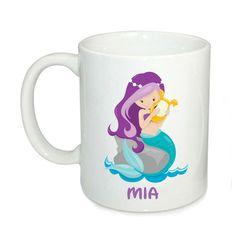 Personalised kids mugs, custom mermaid mug, 6oz mugs, kids cup, custom ceramic cup, 11oz kids mugs by cjcprint on Etsy