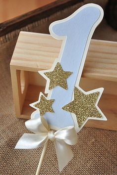 Twinkle Twinkle Little Star Cake Topper. Ships in 2-5 Business Days. Pastel Blue…