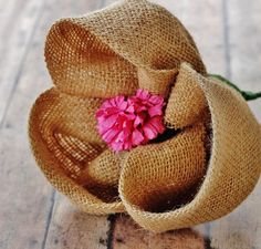 How-To-Make-A-Burlap-Flower. I think I'll do three of these in a different shade of burlap with springy flowers for my burlap wreath