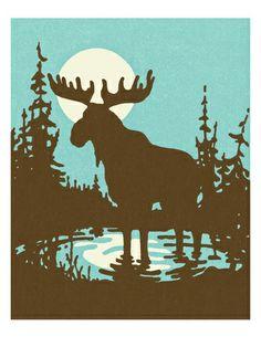 Moose , Photos and Prints at Art.com