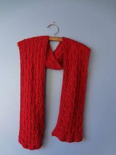 Hand Knit Scarf #knitting