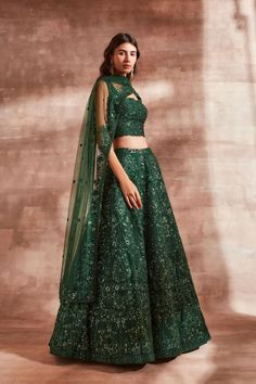 Bridal Lehenga Online, Wedding Sarees Online, Saree Wedding, Lehenga Saree, Jade Green, Formal, Blouse, Sleeves, Stuff To Buy