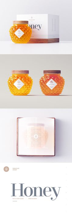 candle making business Noah Ellis Apiary / Packaging on Inspirationde Honey Packaging, Brand Packaging, Packaging Design, Glass Packaging, Logo Design, Design Art, Graphic Design, Honey Label, Candle Making Business