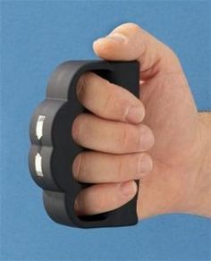 Handy when running in public parks. Blast Knuckles deliver 950,000 volts Nice for personal protection.I want it 950000 volt, volt nice, deliv 950000, knuckl deliv, blast knuckl, brass knuckl, person protect, gun, thing