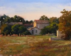 ARTFINDER: Evening near Sisteron by Pascal Giroud - This is a study on the evening light near Sisteron.