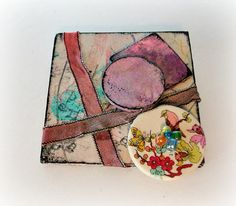 Assemblage Brooch Scarf Pin Sari Silk Brooch by LilyGraceInspired #nitwitches