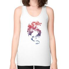 Dragon's myth Unisex Fine Jersey Tank (on woman)