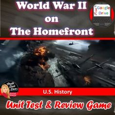 World War II TEST & Review Game | Editable | Distance Learning | Print & Digital