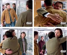 you notice that Dean didn't hug back really? He is dying. His soul is dying. make it stop!!!