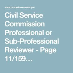 Philippines CivilServiceProfessionalReviewer