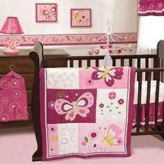 Bedtime Originals by Lambs & Ivy - Pink Butterfly 3pc Crib Bedding Collection Set - Value Bundle - Walmart.com
