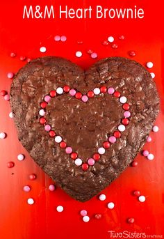 Our M&M Heart Browni