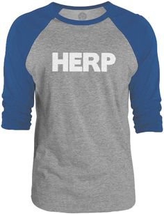 Big Texas HERP (White) 3/4-Sleeve Raglan Baseball T-Shirt