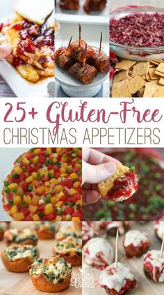 60 Gluten-Free Appetizers for the Holidays - Five Spot Green Living - April Maynard-Schnorbus - 60 Gluten-Free Appetizers for the Holidays - Five Spot Green Living Holiday Gluten-Free Healthy Appetizers via - Dairy Free Appetizers, Holiday Appetizers, Healthy Appetizers, Appetizer Recipes, Holiday Recipes, Healthy Snacks, Holiday Parties, Party Recipes, Dinner Recipes